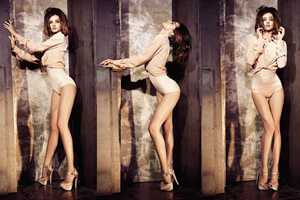 Miranda Kerr is Sultry in 'Body Language' Elle US June 2010
