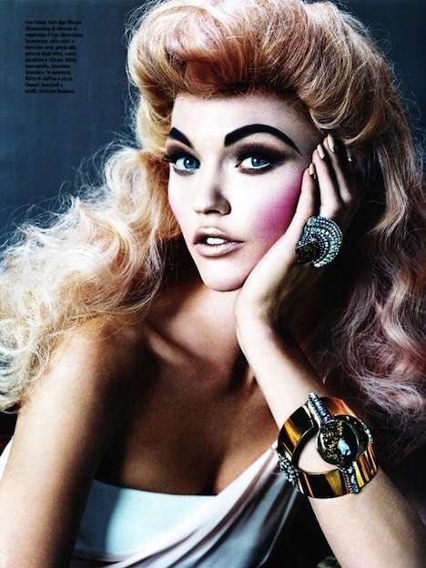 Magic Marker Brows - 'Love is in the Hair' in Vogue Italia Offers Exaggerated Style