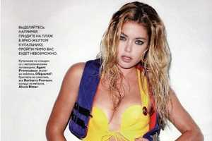 Hot Throwback Bikinis on Doutzen Kroes in Vogue Russia June 2010