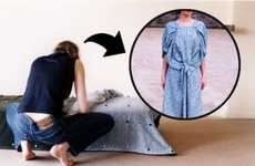 This Wearable Bedspread by Diane Steverlynck Transforms Into Clothing