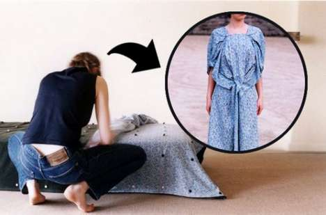 """Self-Couture"" Bedding - This Wearable Bedspread by Diane Steverlynck Transforms Into Clothing"