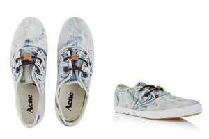 These ACNE Bleached Trainers Look Like Denim Footwear