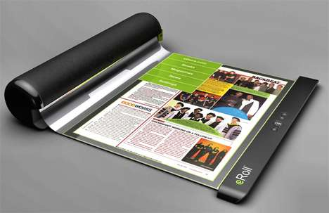 Rollable E-Readers - The eRoll Reader Gives You the Comfort of a Book to Curl Up With