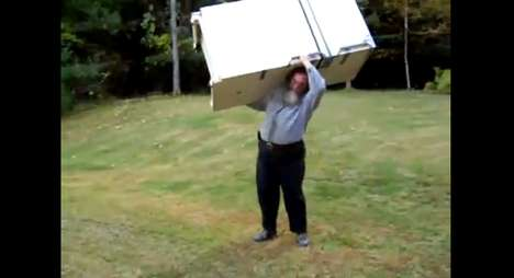 Old Man Lifts Fridge