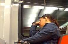 Catatonic Commuter Blogs - Passed Out On Public Transit Captures Sleepy Subway Riders