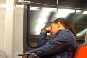 Passed Out On Public Transit Captures Sleepy Subway Riders