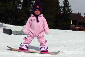 Meet the One-Year-Old Snowboarder, Ava Marie