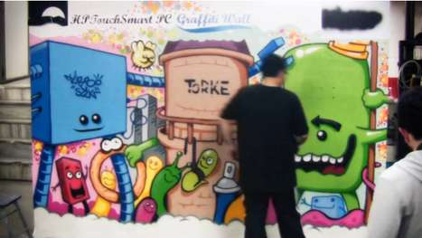 hp touchsmart graffiti wall