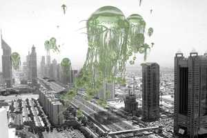 Rael San Fratello Architects' 'Migrating Floating Garden' Proposes Eco UFOs