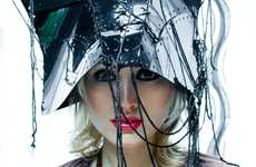 Laced-Up Metal Headwear - 'Maria' by Krasimir Marchev Shows Off Avant-Garde Headdresses