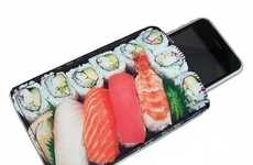 Sushi iPhone Sleeves - The Bento Box Japanese Cuisine Gadget Case Keeps Your Phone Clean