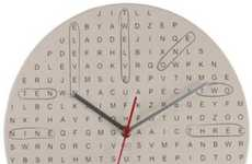 Word Nerd Clocks - The Word Search Clock is a Puzzling Timepiece