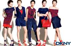 Fall Sailor Fashion  - The DKNY Pre-Fall Campaign is Unconventionally Colorful