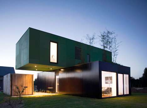 Shipping Container Housing - The Crossbox by CG Architects is Made from Recycled Shipping Crates