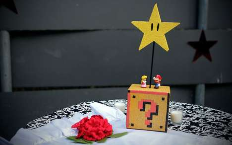super mario bros themed center pieces