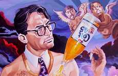 Obscene Pop Culture Art - The David MacDowell Paintings Poke Fun at Icons