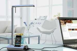 The T'Light Lamp Can Dock Your iPod and Charge Your Laptop