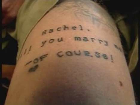 tattooed marriage proposal