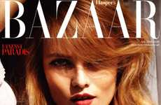 Vanessa Paradis Covers Harper's Bazaar UK July 2010