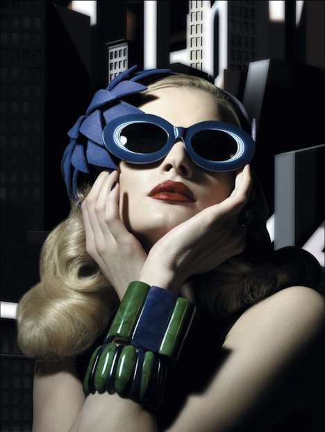 Round Retro Spectacles - Cutler & Gross Fall Lookbook is Sophisticated Chic