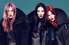 Color-Popping Coifs - The Givenchy Fall Luggage Campaign Uses Bright Hair to Stand Out