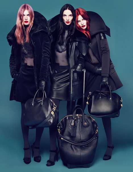 Givenchy Fall 2010 luggage campaign