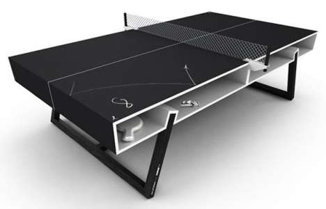 Chalkboard Table Tennis - Write and Draw on the Chalk Ping Pong Table by Puma