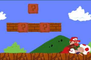 'Bit and Run: Mario's Ladder' by Cory Godbey Reimagines the Classic Game