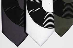 The Vinyl Record Neck Tie Strikes a Chord with Music Lovers