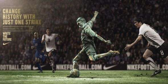 Statuesque Soccer Ads