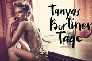 The Tanya Dziahileva Tush Magazine Spread has an Old School Vibe