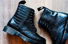 Reptilian Rocker Boots