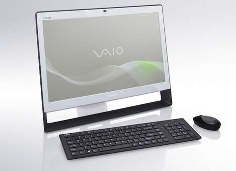 Twiggy Touchscreen PCs - The Sony Vaio J Offers Touchable Fun in a Very Thin Package