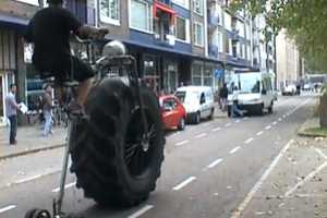 This Monsterbike has One Giant Monster Truck Wheel
