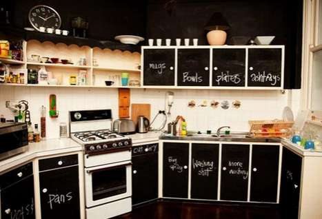 Chalkboard Walls - Laura Bohn Designs a More Creative and Less Forgetful Home