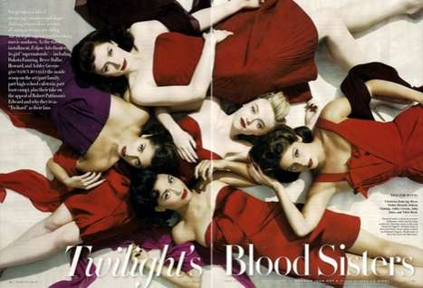 Blood Sister Spreads - The Vampire-Inspired Editorial in Vanity Fair July 2010