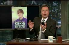 Farcical Phone Apps - The Jimmy Fallon iPhone 4 Spoof Includes 'Bieber Yourself'