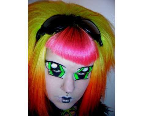 colorfully dyed hairdos