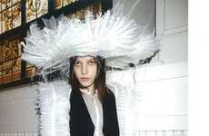 Giant Feathered Hats - The Tati Cotliar 10 Magazine Editorial is Completely Couture