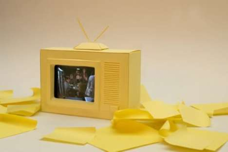 Paper iPhone TV Set