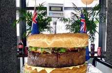 Monster Burgers - The 198-Pound Hamburger Cooked Up by Sydney Cafe