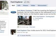 Automaker Facebook Reveals - The 2011 Explorer Will be Unveiled on the Ford Facebook Page