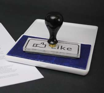 Real Life Facebooking - The 'Like' Button on Facebook Turns Real With a Rubber Stamp Replica
