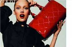 Crimson Blood Handbags - Vogue Paris Editorial Will Send You into a Convulsion