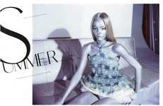 Metallic Fashion Photography - The Emily Wake Amica Italy Spread is Structured
