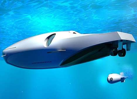 Underwater Yachts - The U-010 Undersea Yacht is Below the Surface Luxury