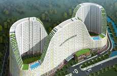 Roller Coaster Apartments - The Everrich 2 Apartment Complex By DWP Architects