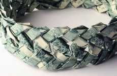Money Bracelets - Banknote Jewelry is Created from Real International Bills