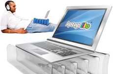 Inflatable Laptop Stands - The Laptop Lilo Keeps Your Computing Cool and Comfortable