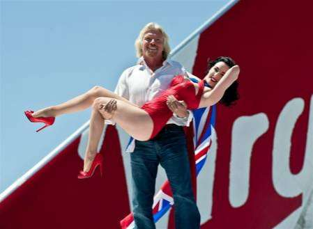 Burlesque Aircrafts - Sir Richard Branson Celebrates the Dita Von Teese Airplane